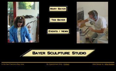 Graphic of Bayer Sculpture Studio web site home page - 2005