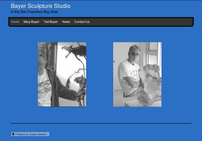 Graphic for Bayer Sculpture Studio's online portfolio web site home page